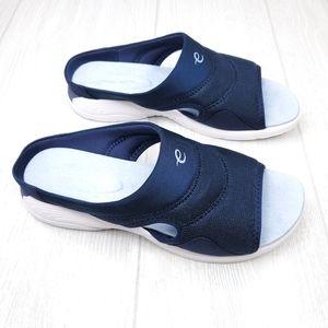 Easy Spirit Seteak2 Blue Slip On Sandals